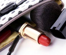 Female cosmetic bag Stock Photo