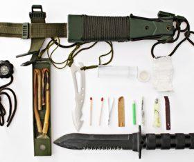 Field survival kit Stock Photo 01