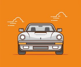 Flat car illustration vector