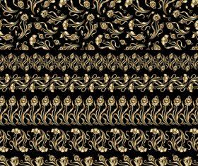 Floral brush ornament borders vectors 01