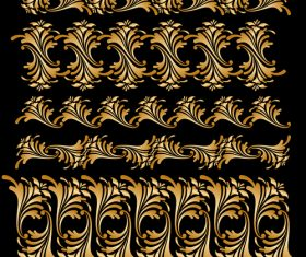 Floral brush ornament borders vectors 03