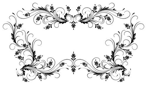 Floral Ornament Vector Free: Floral Ornaments Frame Design Vector 02 Free Download