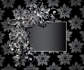 Flower background with decor frame vector