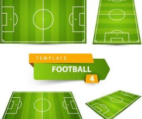 Football field design illustration vector 01