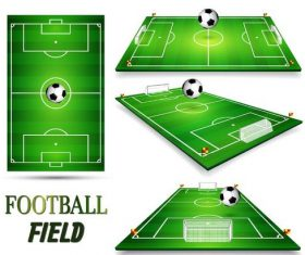 Football field design illustration vector 02