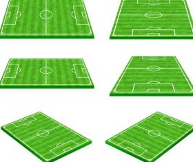 Football field design illustration vector 03