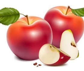 Fresh apples design vectors set 05