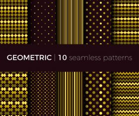 Geometric seamless pattern golden vector