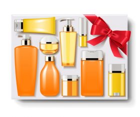 Gift Box with Cosmetics vectors