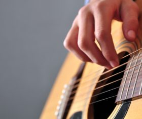 Girl guitar musical performance Stock Photo 05