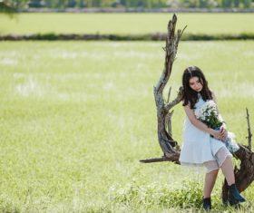 Girl outdoor photo shoot Stock Photo