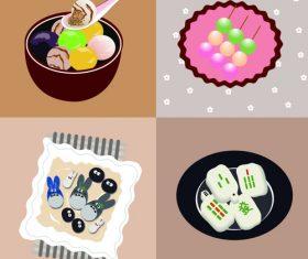Glutinous rice ball vector cartoon illustration