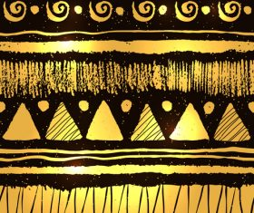 Golden border decor vectors