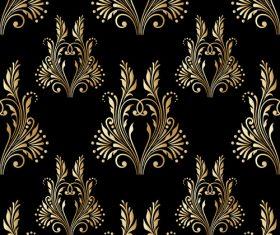 Golden ornament seamless vector pattern 01