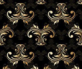 Golden ornament seamless vector pattern 02