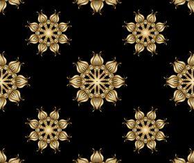 Golden ornament seamless vector pattern 03