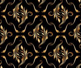 Golden ornament seamless vector pattern 04