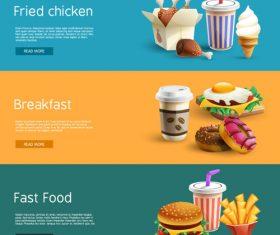 Gourmet advertisement banner material vector