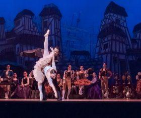 Graceful ballet performance Stock Photo 02