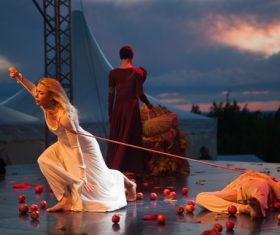 Graceful ballet performance Stock Photo 03