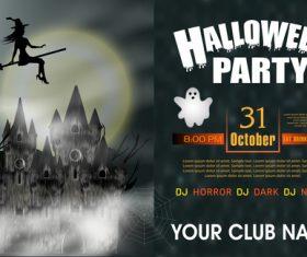 Halloween party night poster vectors 01