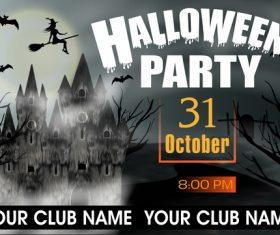 Halloween party night poster vectors 03