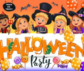 Halloween party poster vector design material