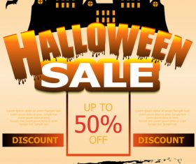 Halloween special offer sale poster vector 01