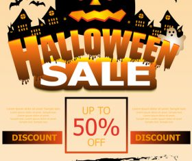 Halloween special offer sale poster vector 02