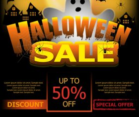 Halloween special offer sale poster vector 03