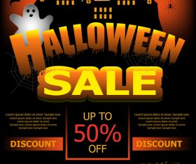 Halloween special offer sale poster vector 04