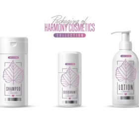 Harmony cosmetics packaging design vector 01