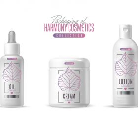 Harmony cosmetics packaging design vector 02