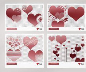 Heart pack photoshop brushes