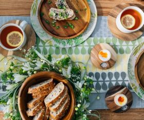 Hearty and delicious breakfast Stock Photo 02