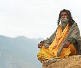 Indian Yoga Master Stock Photo
