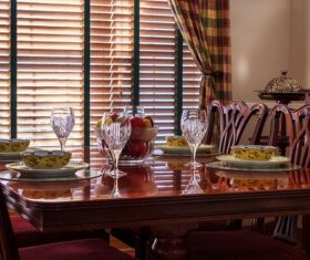 Indoor dining table Stock Photo 04