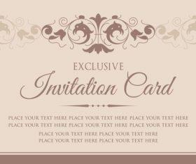 Invitation card template design vintage style vector 02