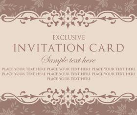 Invitation card template design vintage style vector 04