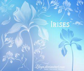 Irises Photoshop Brushes