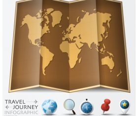Journey World Map Travel vector 03