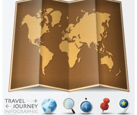 Journey World Map Travel vector 03