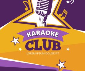 Karaoke club poster template vector