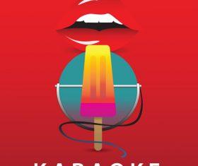 Karaoke party poster template vectors 02