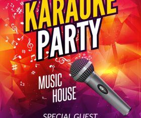 Karaoke party poster template vectors 04