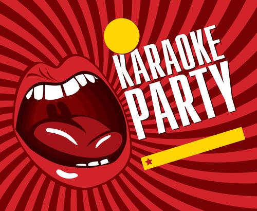 Karaoke party poster template vectors 05