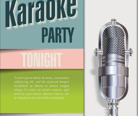 Karaoke party poster template vectors 07