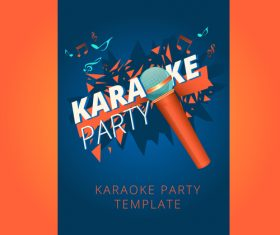 Karaoke party poster template vectors 08