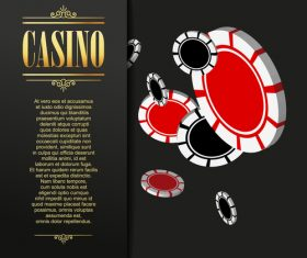 Luxury casino background design vector 01