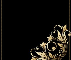 Luxury frame with floral decor vectors 02